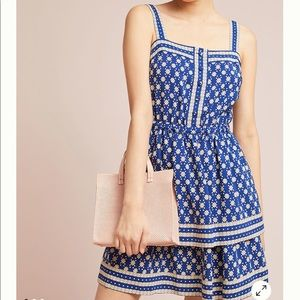 Anthropologie Maeve Oberlin Tiered Dress